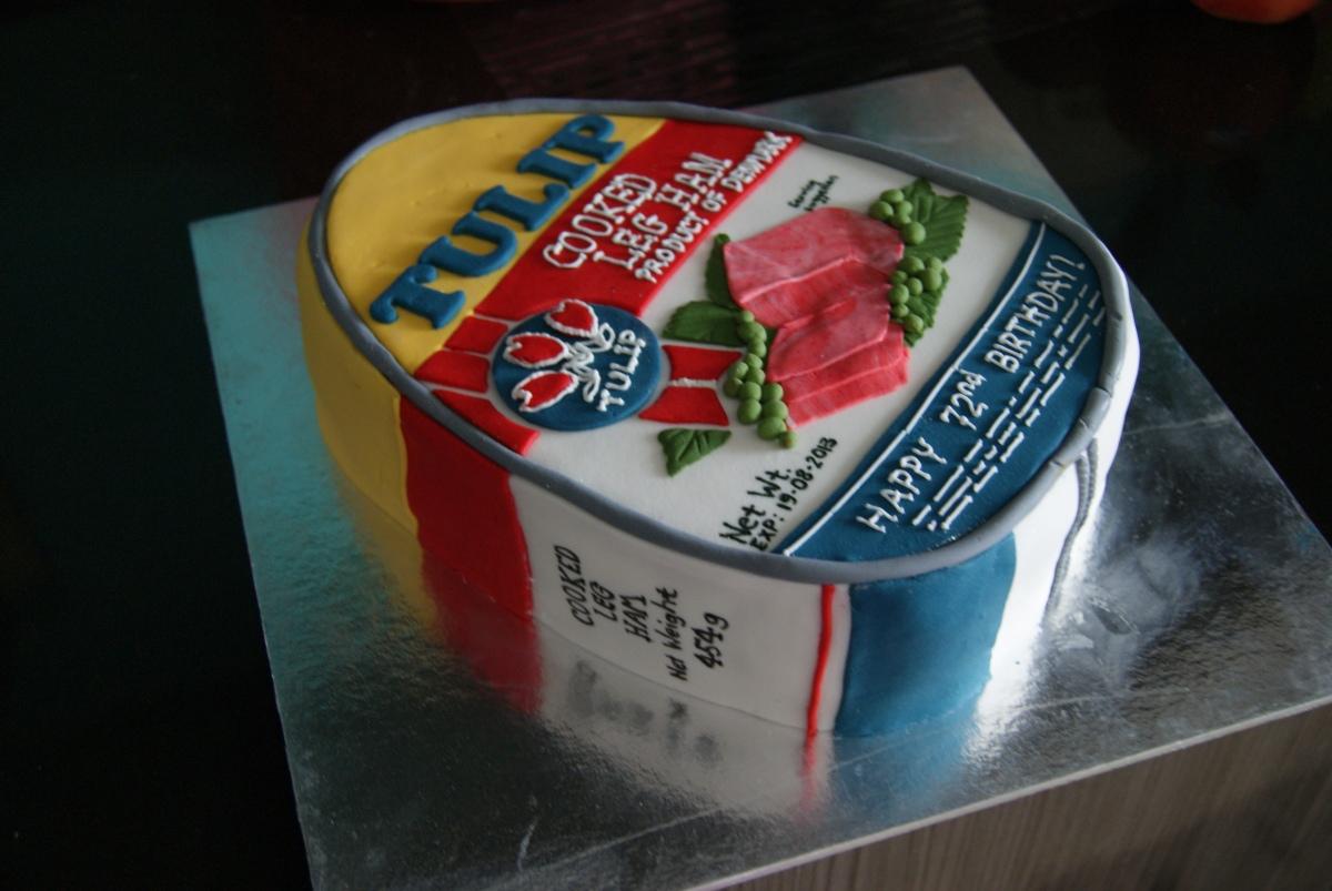 Tulip Ham Birthday Cake