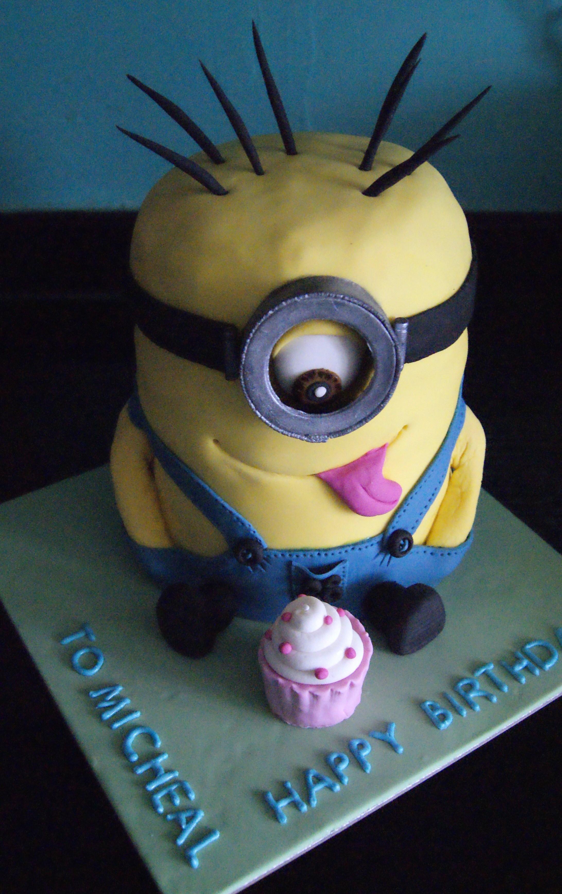 Brilliant Minion Birthday Cake Cake Fairy Tales Funny Birthday Cards Online Unhofree Goldxyz