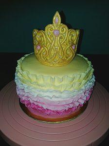 tiara and ruffles