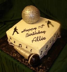 CC disco ball cake