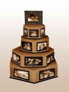 wedding cake edible photo
